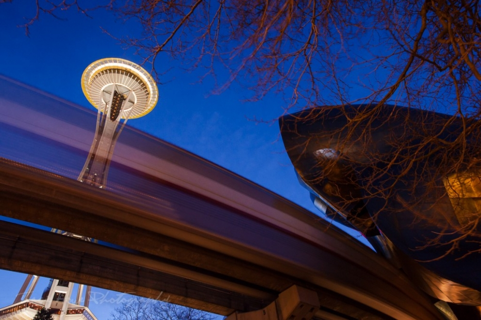 A unique perspective of the Space Needle