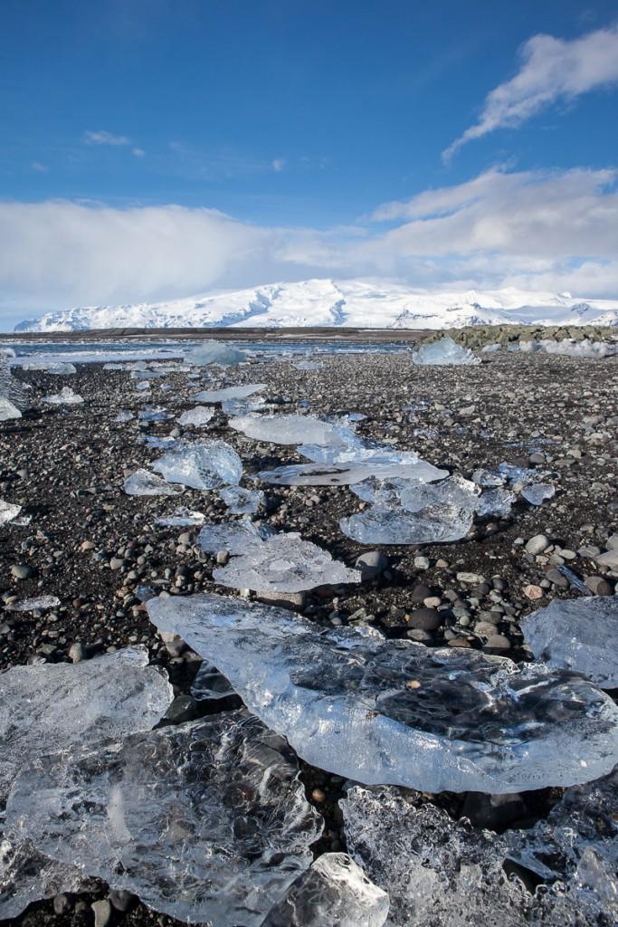 Jokulsarlon beach ice