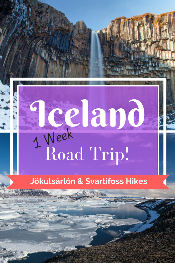 Iceland Road Trip Adventure - Jökulsárlón lagoon & Svartifoss hikes | Day 5 - Tracie Travels