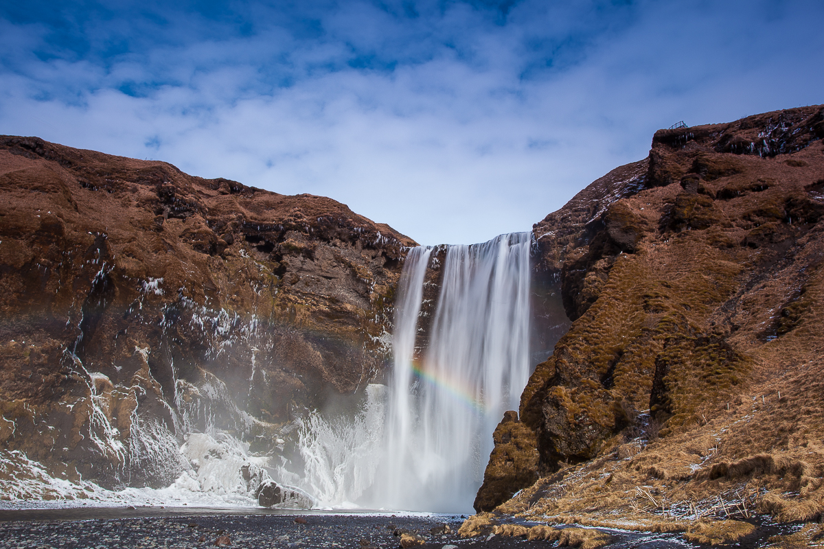 Skogafoss - winter travel Iceland