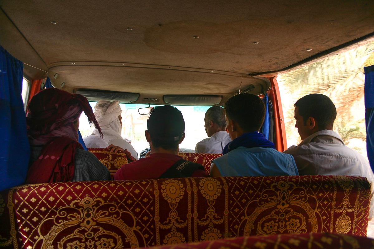 Our desert taxi  into the Sahara
