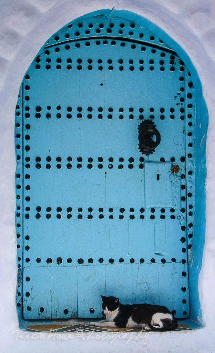 Blue Chefchaouen door