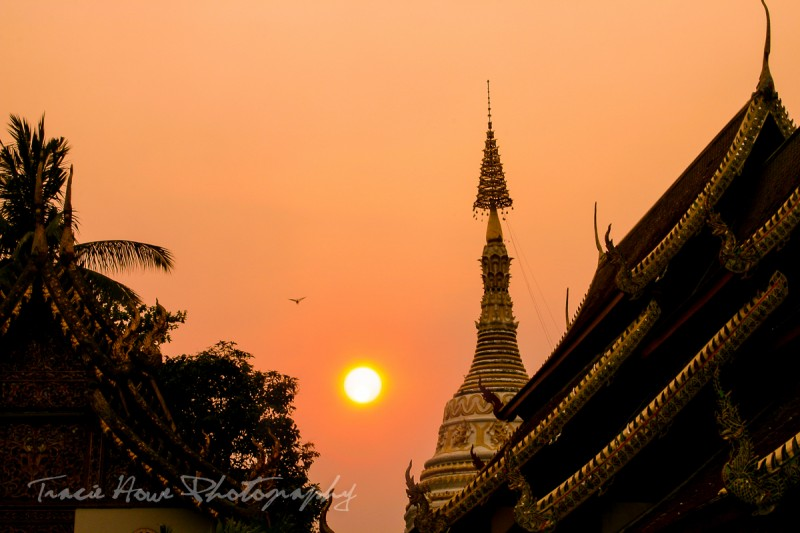 Travels in southeast Asia - Chiang Mai sunset