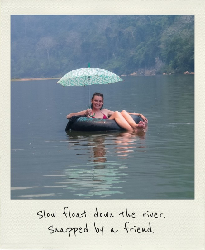 Floating in Mong Ngoi, Laos
