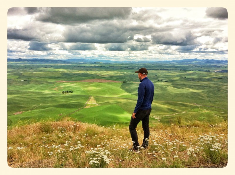 Dave contemplating the Palouse? No, just me asking him to stand there.