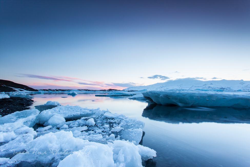 Jokulsarlon lagoon sunset photography