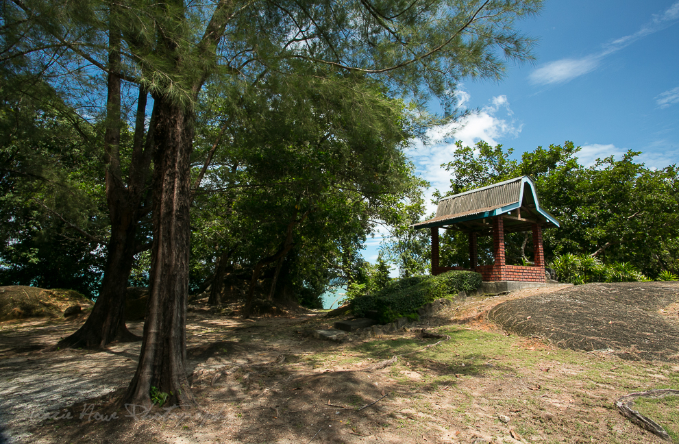 The upper park area of our hidden beach.