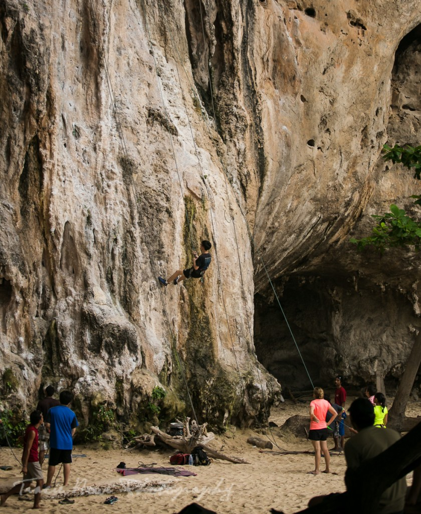 rock climbing in Pranang Beach