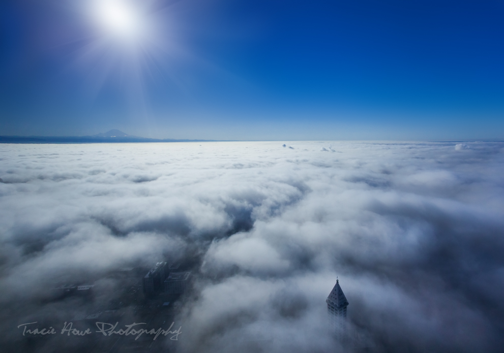 Fog over Seattle