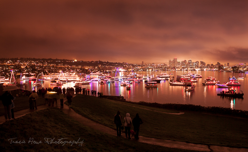 Christmas ship festival boat parade at gasworks park