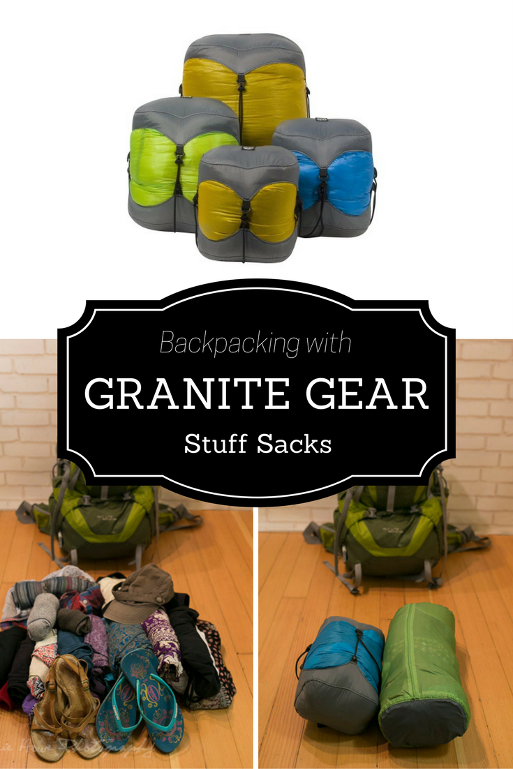 Backpacking with Granite Gear stuff sacks | Tracie Travels