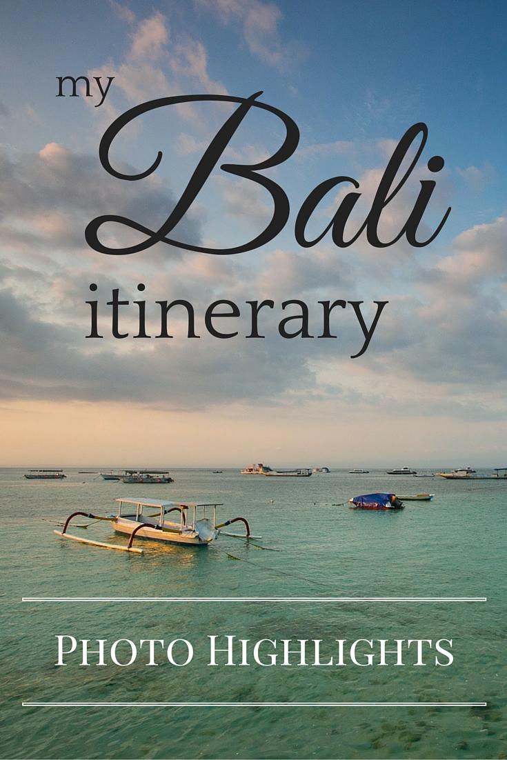 Bali itinerary photo highlights - Tracie Travels