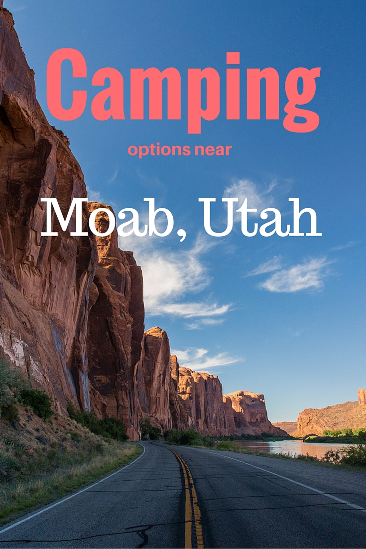 Camping options near Moab Utah | Tracie Travels