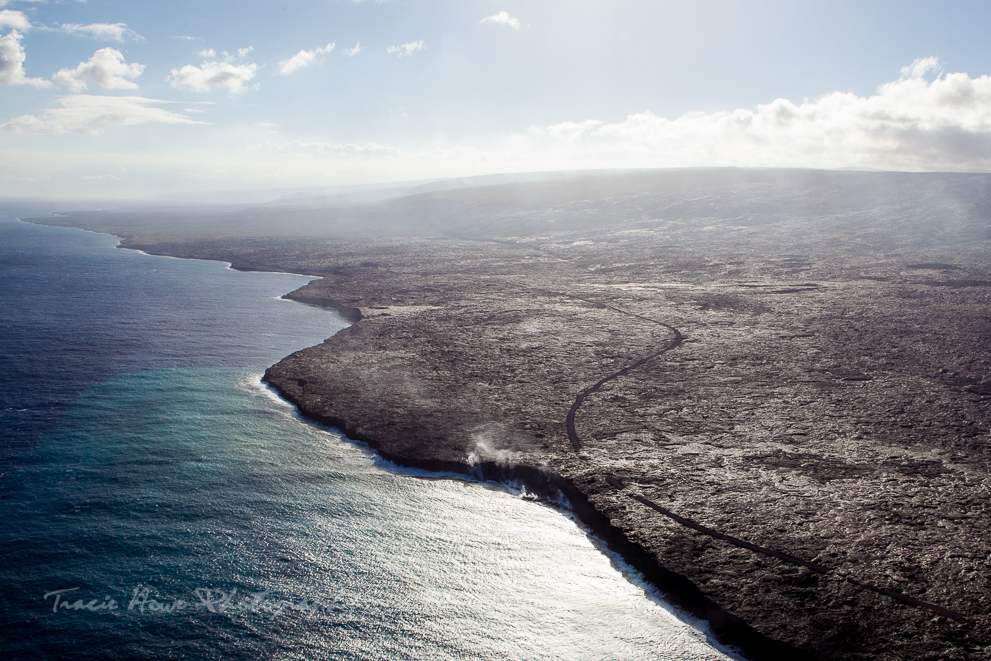 helicopter tour on Hawaii island