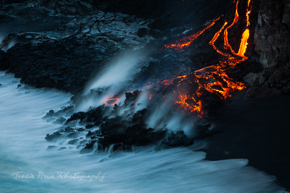 how to see lava on Hawai