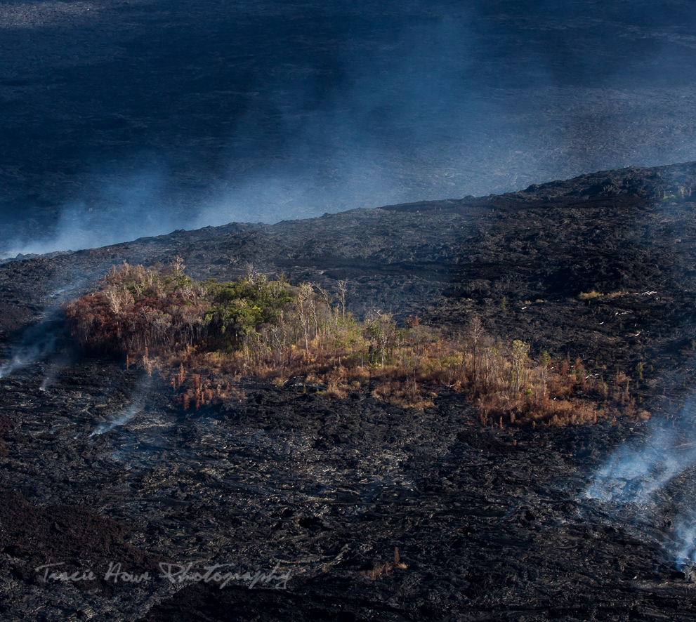 photographing lava from Paradise Helicopters