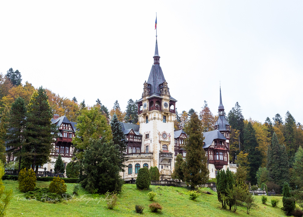 Peles Castle exterior - Eastern European road trip