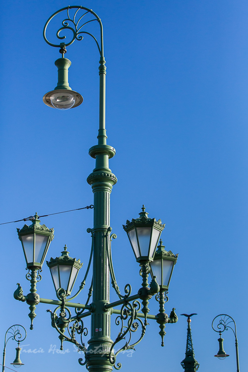 the best of Budapest - Liberty Bridge lamp posts