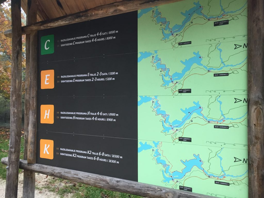 Plitvice Lakes route map