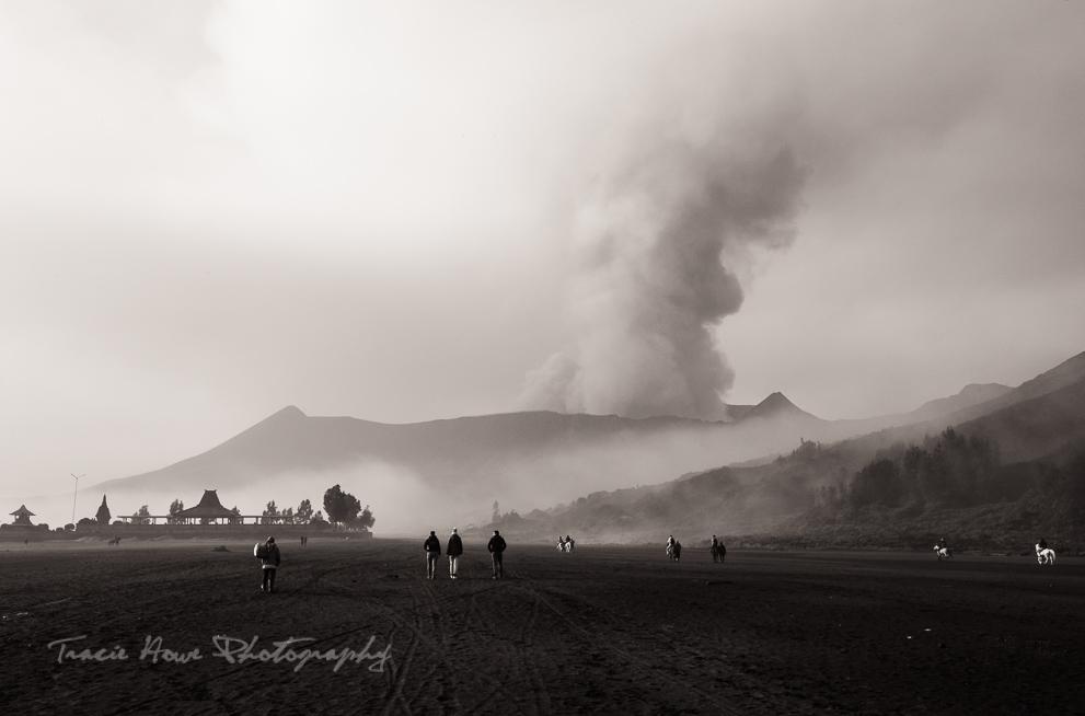 Mount Bromo after sunrise