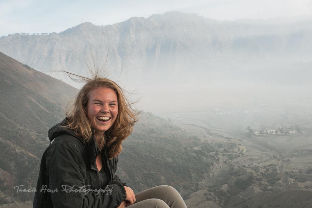 static hair at Mount Bromo