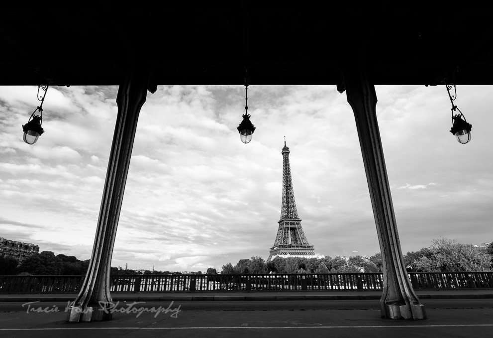 Bridge view of the Eiffel Tower