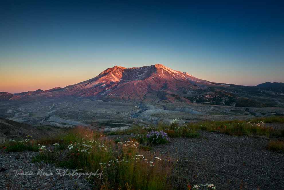 Mount St. Helens at sunset