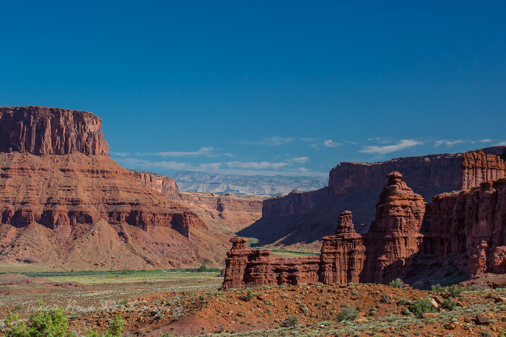 view from Fisher Towers in Utah