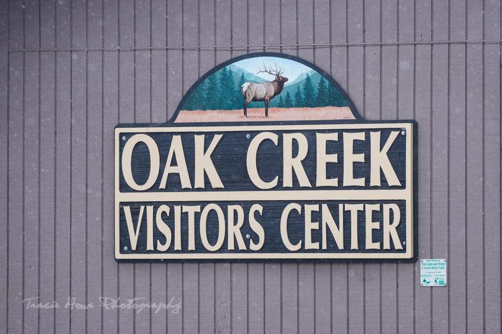 Oak Creek wildlife area Elk feeding station
