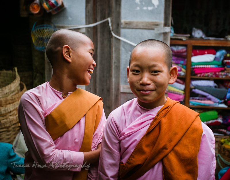 girl monks in Myanmar