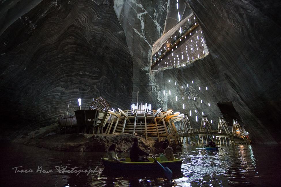 Salina Turda mines boats
