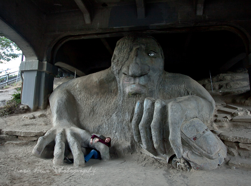 top 10 things to do in Seattle list - visit the Fremont troll