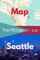 Route map of things to do in Seattle