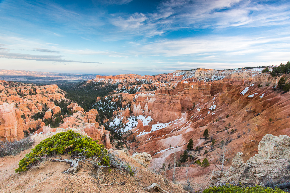 Bryce Canyon National Park with snow