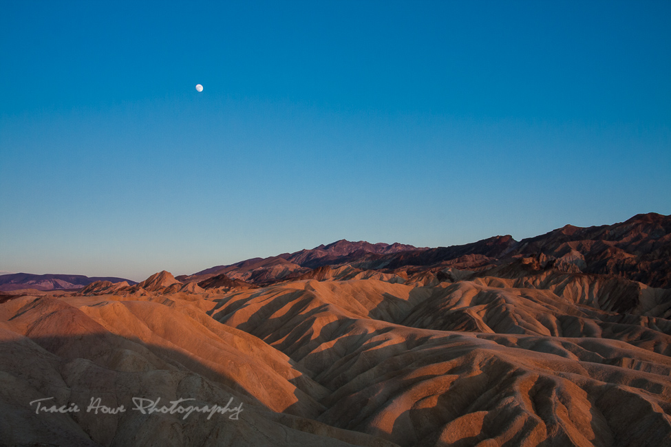 Death Valley dunes at sunset