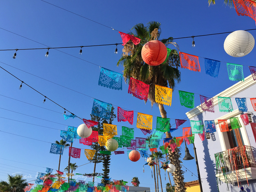Jose del Cabo Mexican flags