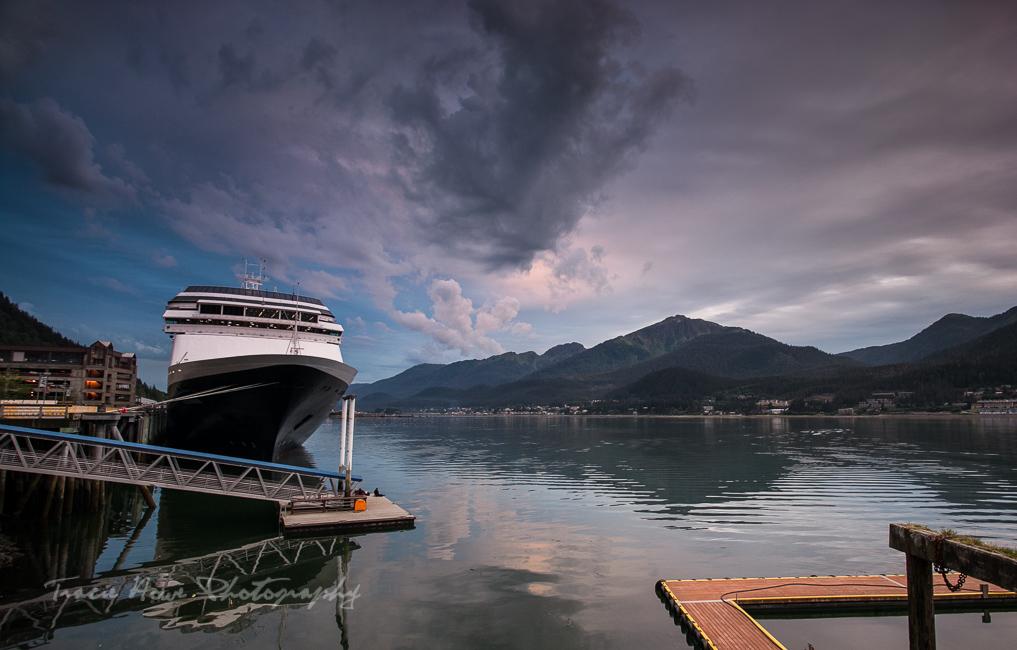 MS Volendam docked in Juneau