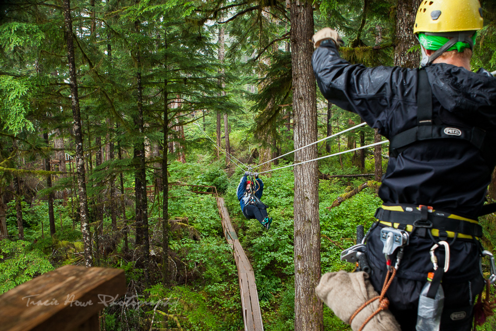 ziplining in Ketchikan