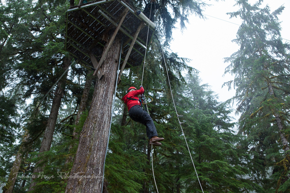 rapelling in Ketchikan