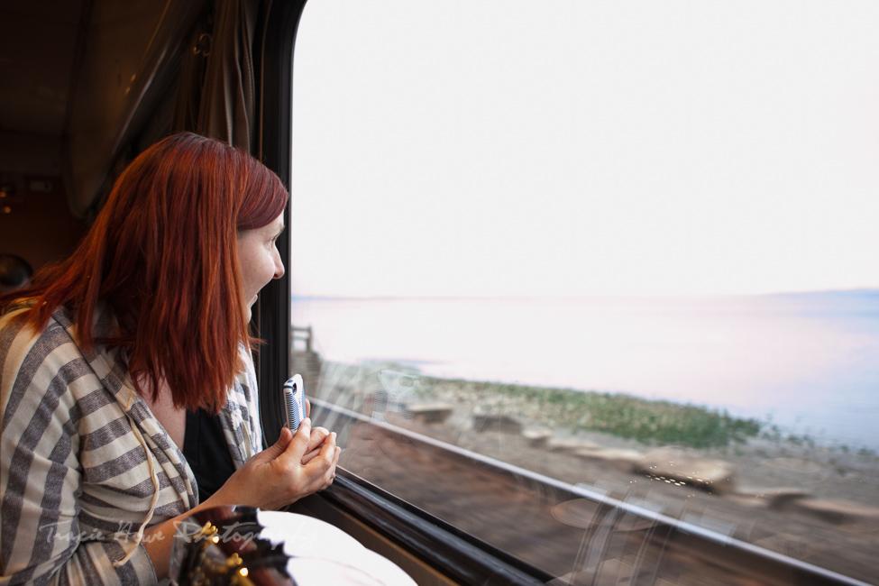 Scenic train ride with Amtrak Cascades