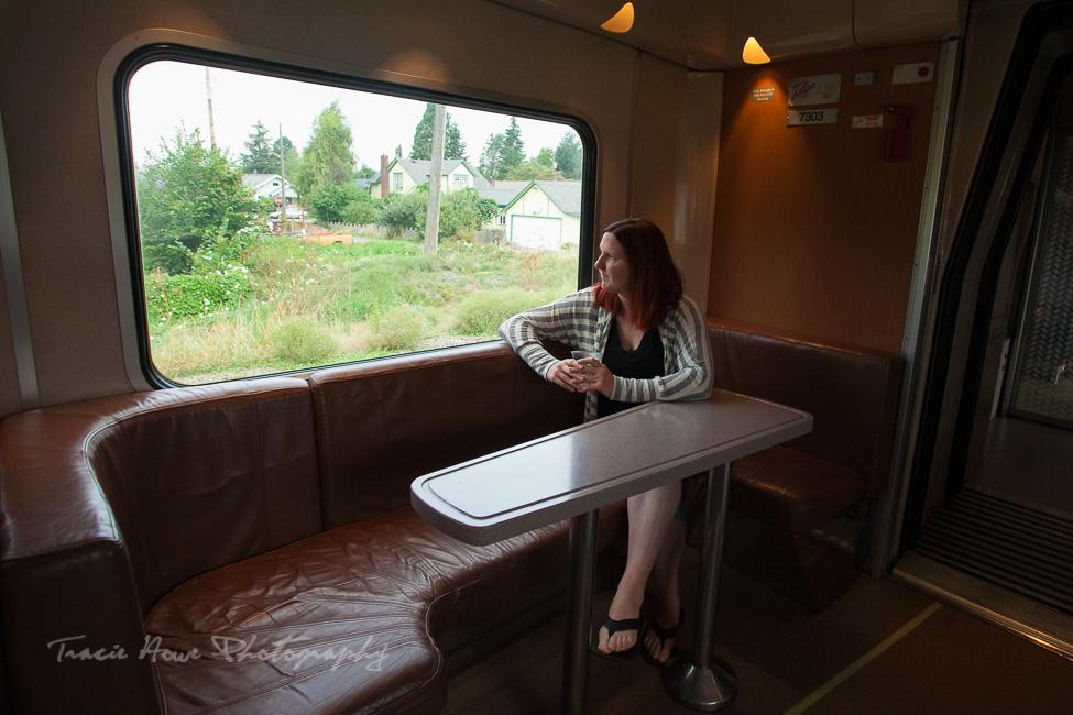 Amtrak Cascades train window