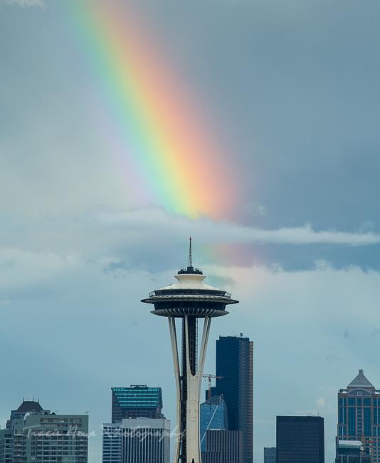 Space Needle rainbow