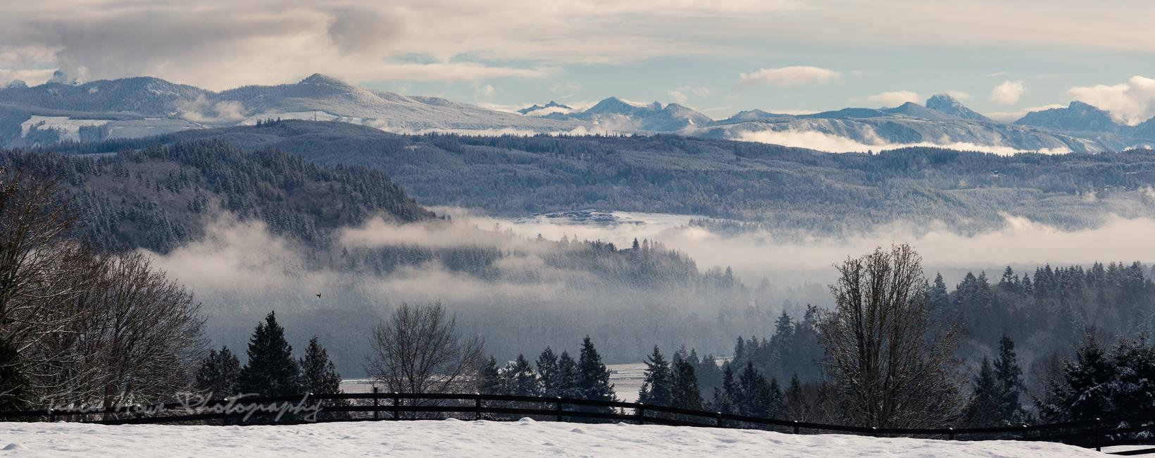 Snohomish snow landscape