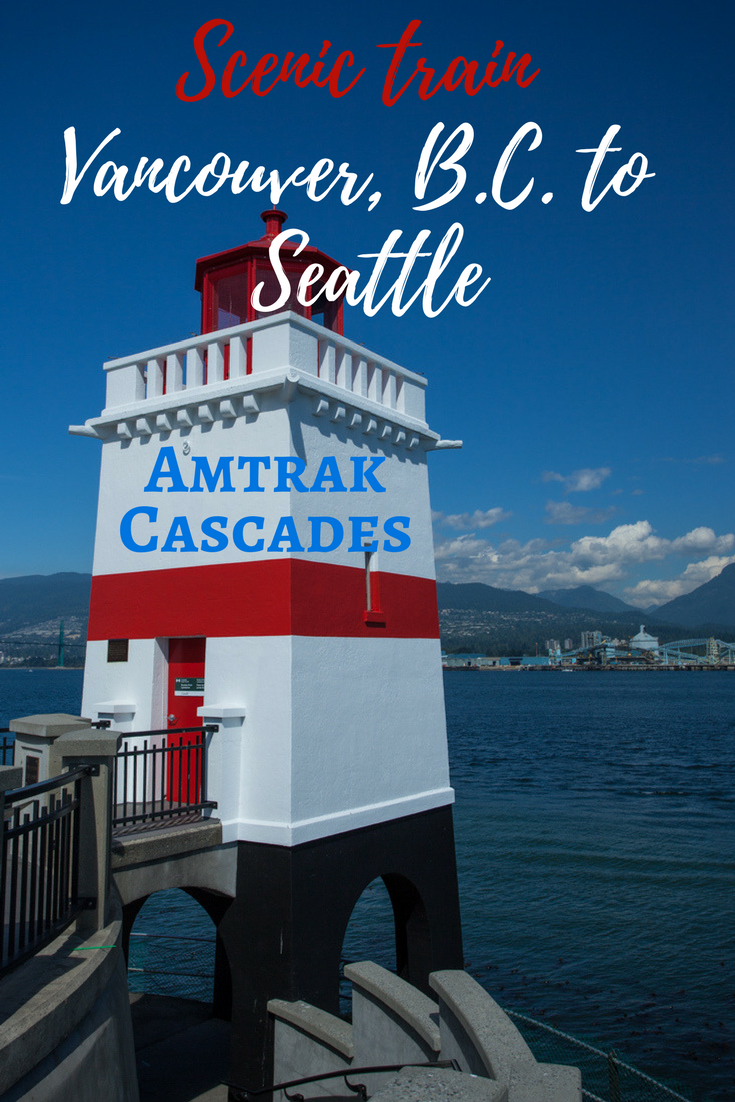 Amtrak Cascades train from Vancouver, B.C. to Seattle | Tracie Travels