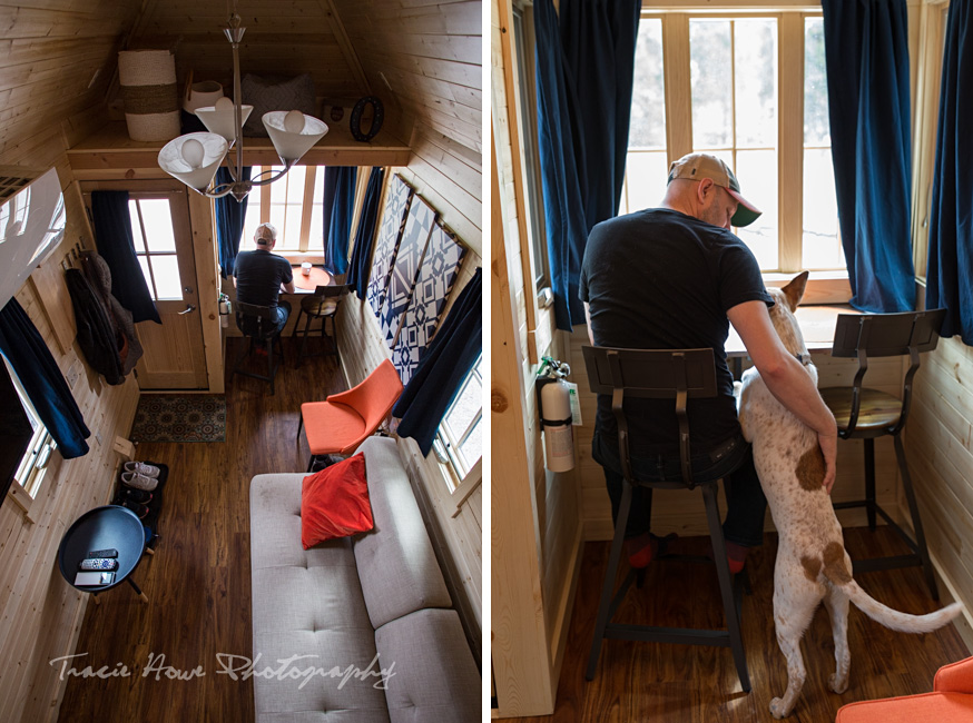 dog-friendly tiny house interior