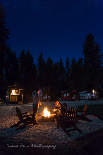 campfire at Leavenworth Tiny House Village